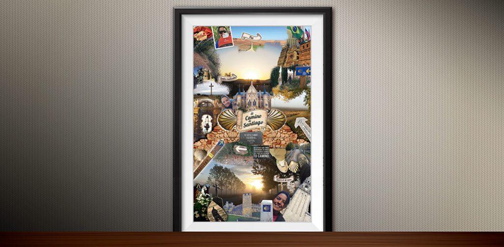 Poster de recordação de viagem